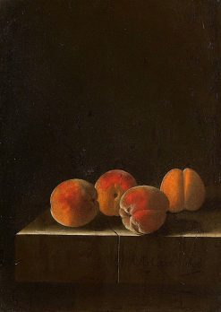 Four Apricots on a Stone Plinth | Adriaen Coorte | Oil Painting