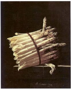 Still Life of Asparagus | Adriaen Coorte | Oil Painting