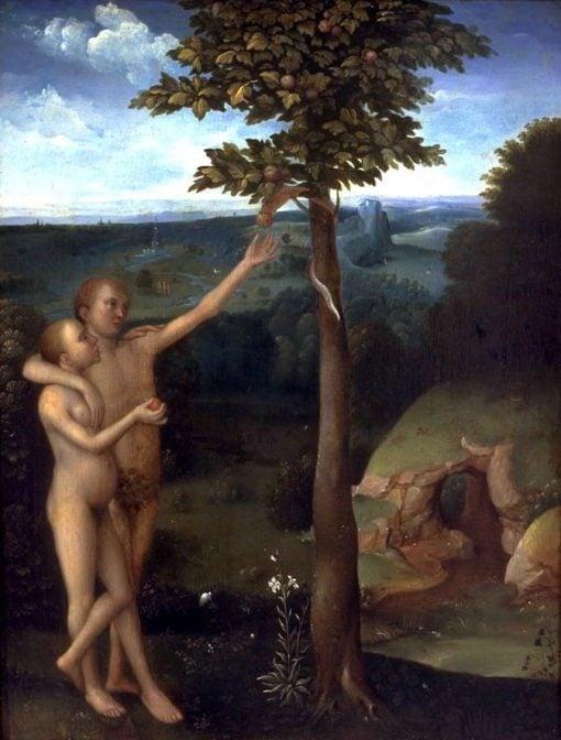Adam and Eve   Adriaen Isenbrandt   Oil Painting