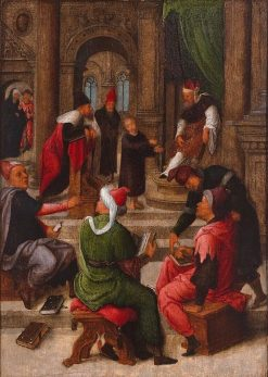 The 12-Year-Old Jesus in the Temple   Adriaen Isenbrandt   Oil Painting