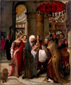 Presentation of Christ in the temple   Adriaen Isenbrandt   Oil Painting