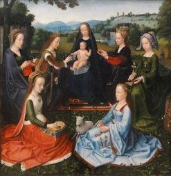Madonna with Female Saints   Adriaen Isenbrandt   Oil Painting