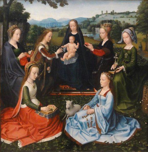 Madonna with Female Saints | Adriaen Isenbrandt | Oil Painting