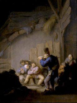 Reading a Jest in the Village Inn   Adriaen van Ostade   Oil Painting