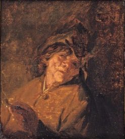 A Man Smoking a Pipe | Adriaen van Ostade | Oil Painting