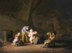 Quarrel   Adriaen van Ostade   Oil Painting