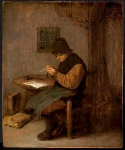 The Feather-cutter | Adriaen van Ostade | Oil Painting