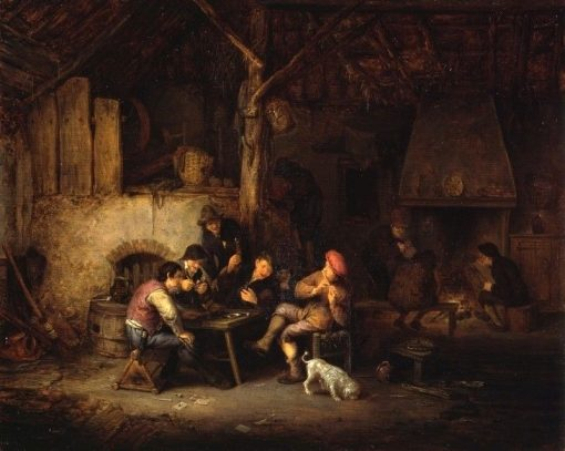 Peasants at an Inn | Adriaen van Ostade | Oil Painting