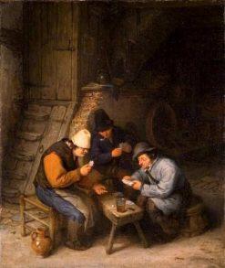 Peasants Playing Cards | Adriaen van Ostade | Oil Painting