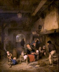 Peasant Family by the Fireside | Adriaen van Ostade | Oil Painting