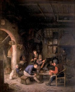 Peasants in an Inn | Adriaen van Ostade | Oil Painting