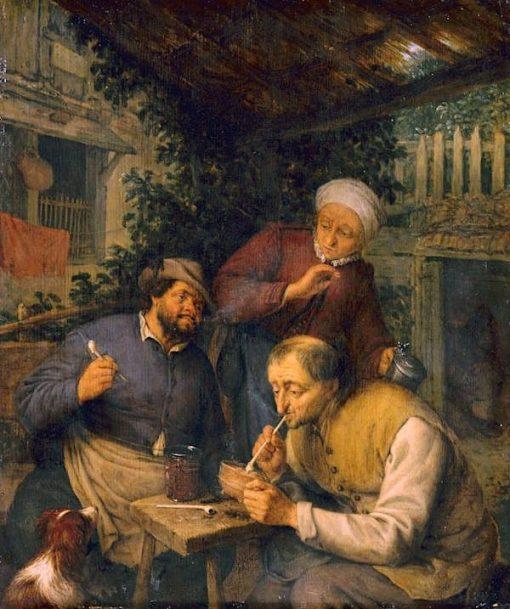 Two Peasants Smoking | Adriaen van Ostade | Oil Painting