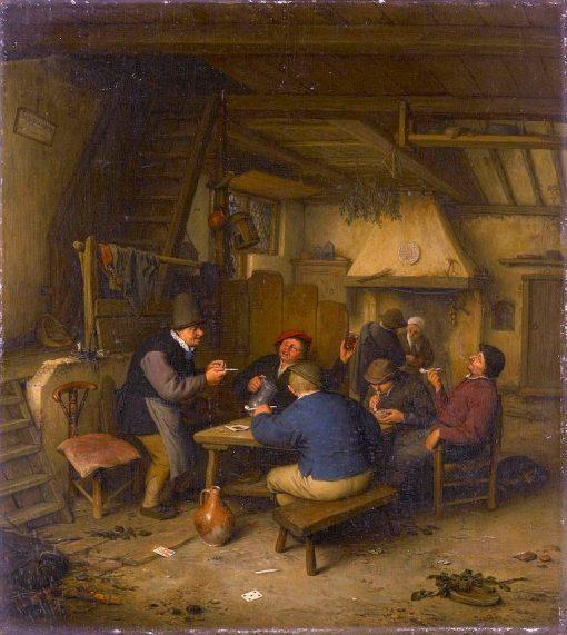 Peasants in a Tavern   Adriaen van Ostade   Oil Painting