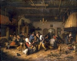 Men and Women at a Country Inn | Adriaen van Ostade | Oil Painting