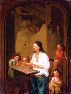 The Cimbalom Player | Adriaen van Ostade | Oil Painting