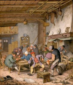 Room in an Inn with Peasants Drinking