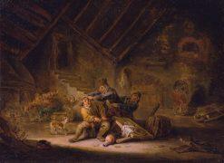Card-Players Fighting | Adriaen van Ostade | Oil Painting