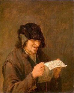 Singing Man   Adriaen van Ostade   Oil Painting