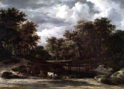A Woodland Landscape | Adriaen van de Velde | Oil Painting