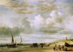 Beach at Scheveningen   Adriaen van de Velde   Oil Painting