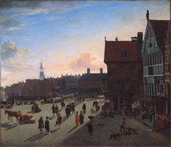 The Dam and Damrak | Adriaen van de Velde | Oil Painting
