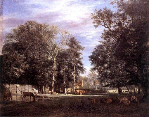 The Farm   Adriaen van de Velde   Oil Painting