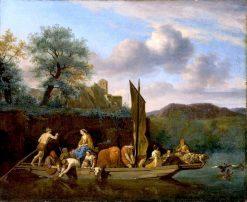 Italian Landscape with Ferry | Adriaen van de Velde | Oil Painting