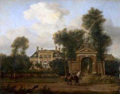 House Harteveld on the Vecht in Utrecht   Adriaen van de Velde   Oil Painting