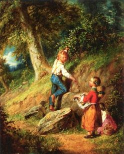 The Berry Pickers | William Sanford Mason | Oil Painting