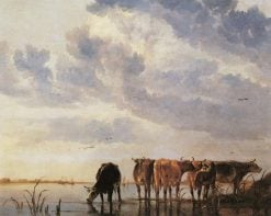 Cows in a River | Aelbert Cuyp | Oil Painting