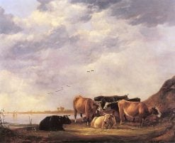 Bulls on a Riverbank | Aelbert Cuyp | Oil Painting