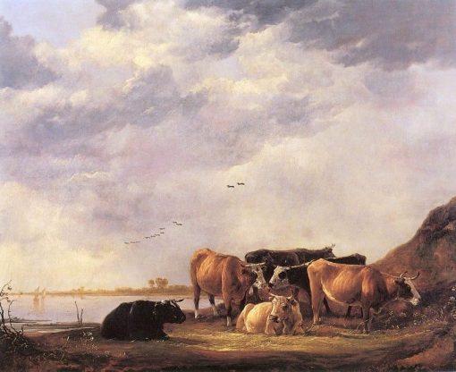 Bulls on a Riverbank | Aelbert Cuyp | Oil Painting