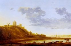 The Valkhof at Nijmegen from the East | Aelbert Cuyp | Oil Painting
