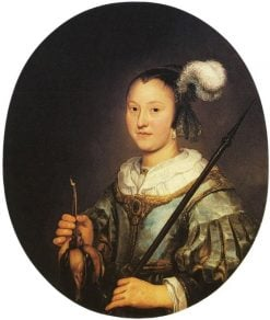 Portrait of a Woman Aged Twenty-one as a Hunter | Aelbert Cuyp | Oil Painting