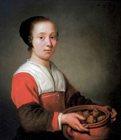 A Woman Holding Oliebol Treats | Aelbert Cuyp | Oil Painting