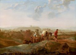 Migrating Peasants in a Southern Landscape | Aelbert Cuyp | Oil Painting