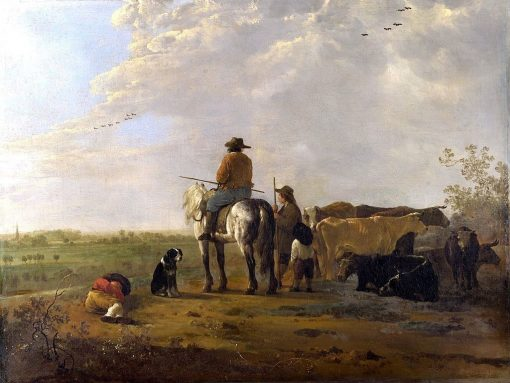 A Landscape with Horseman