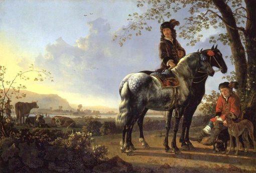 Horsemen Resting in a Landscape | Aelbert Cuyp | Oil Painting