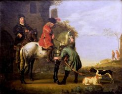 The Departure for the Horse Ride | Aelbert Cuyp | Oil Painting