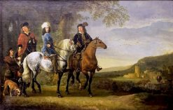Landscape with Three Riders | Aelbert Cuyp | Oil Painting