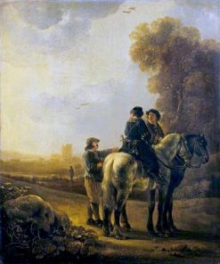 Horsemen in a Landscape | Aelbert Cuyp | Oil Painting