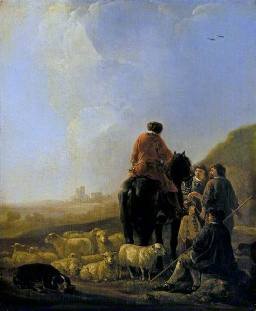 A Shepherd with His Flock | Aelbert Cuyp | Oil Painting