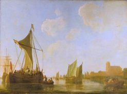 Passage Boat on the Maas | Aelbert Cuyp | Oil Painting