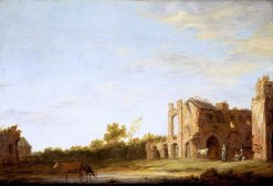 Landscape with the Ruins of Rijnsburg Abbey