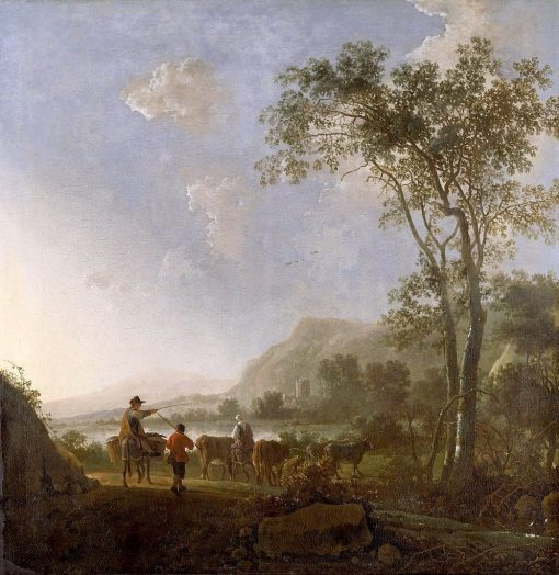 Landscape with Herdsman and Cattle | Aelbert Cuyp | Oil Painting
