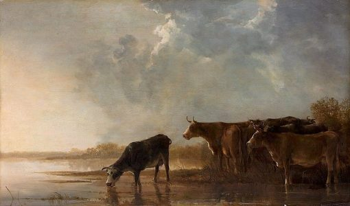 River Landscape with Cows | Aelbert Cuyp | Oil Painting