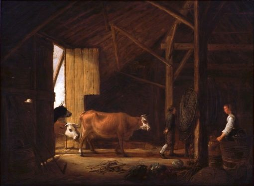 Interior of a Cowshed   Aelbert Cuyp   Oil Painting