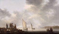 A Pier Overlooking Dordrecht | Aelbert Cuyp | Oil Painting