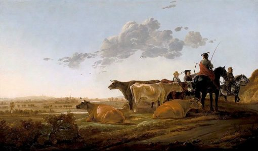 Landscape with Herdsmen | Aelbert Cuyp | Oil Painting