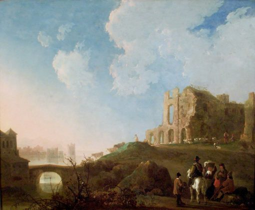 Landscape with the ruins of Rijnsburg Abbey | Aelbert Cuyp | Oil Painting